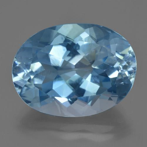 21.00 ct Oval Facet Swiss Blue Topaz Gemstone 15.02 mm x 20.1 mm (Product ID: 422652)