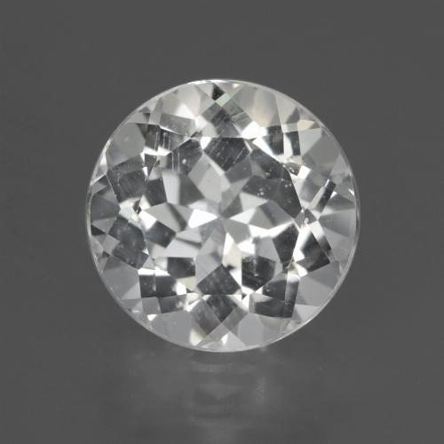 Clear White Topaz Gem - 3.7ct Round Facet (ID: 425775)