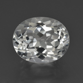 5.2ct Oval Facet Clear White Topaz Gem (ID: 425875)