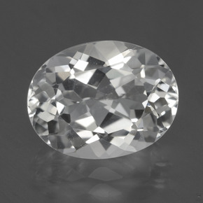Clear White Topaz Gem - 6ct Oval Facet (ID: 425948)