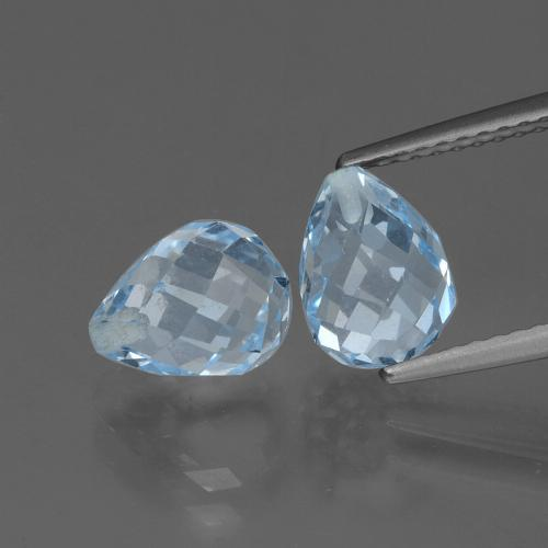 Sky Blue Topaz Gem - 2.6ct Half-Drilled Briolette (ID: 426480)
