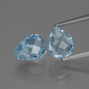 Sky Blue Topaz Gem - 2.6ct Half-Drilled Briolette (ID: 426487)