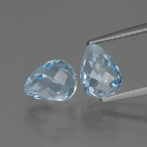Sky Blue Topaz Gem - 2.6ct Half-Drilled Briolette (ID: 426489)