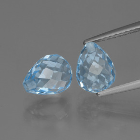 Light Blue Topaz Gem - 2.5ct Half-Drilled Briolette (ID: 426490)