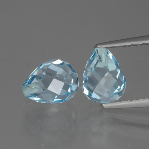 Sky Blue Topaz Gem - 2.6ct Half-Drilled Briolette (ID: 426517)