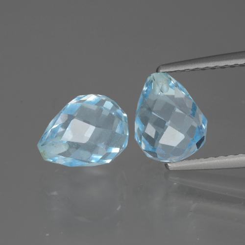 Sky Blue Topaz Gem - 2.5ct Half-Drilled Briolette (ID: 426520)