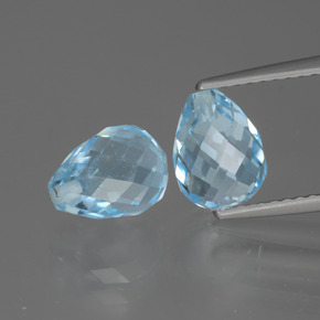 Sky Blue Topaz Gem - 2.6ct Half-Drilled Briolette (ID: 426521)