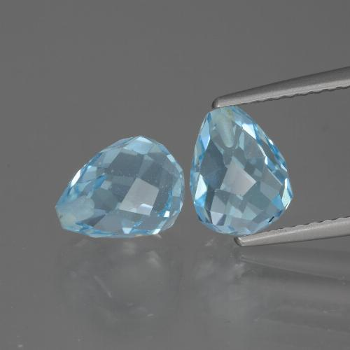 Sky Blue Topaz Gem - 2.5ct Half-Drilled Briolette (ID: 426523)