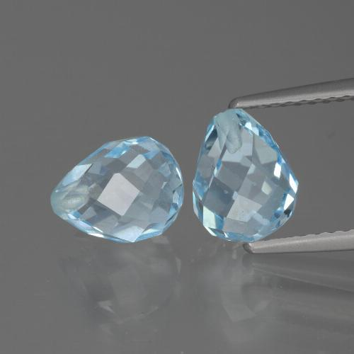 Sky Blue Topaz Gem - 2.5ct Half-Drilled Briolette (ID: 426526)