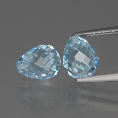 Sky Blue Topaz Gem - 2.7ct Half-Drilled Briolette (ID: 426591)