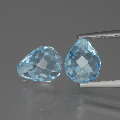 Sky Blue Topaz Gem - 2.6ct Half-Drilled Briolette (ID: 426594)