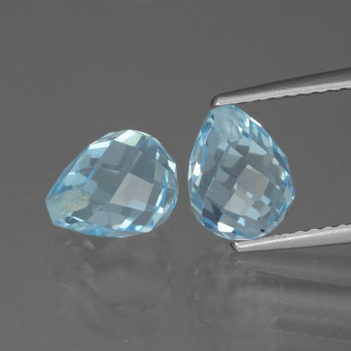 Sky Blue Topaz Gem - 2.6ct Half-Drilled Briolette (ID: 426598)