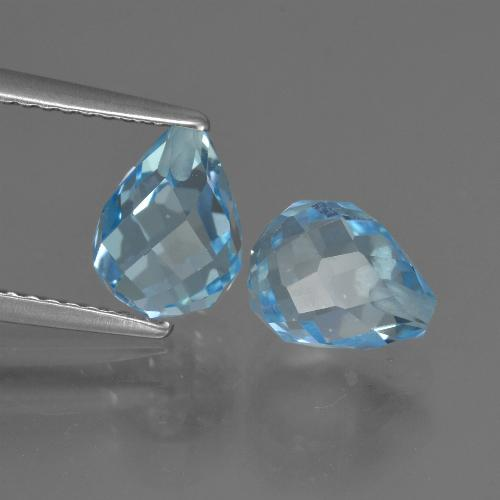Sky Blue Topaz Gem - 2.5ct Half-Drilled Briolette (ID: 426633)