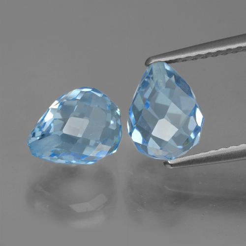 Sky Blue Topaz Gem - 2.6ct Half-Drilled Briolette (ID: 426675)