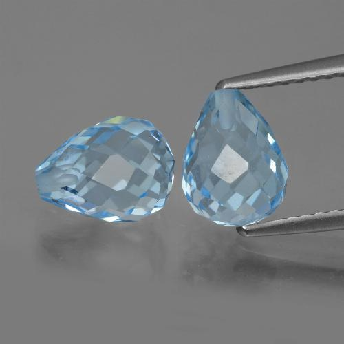 Sky Blue Topaz Gem - 2.6ct Half-Drilled Briolette (ID: 426677)