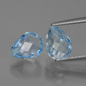 Sky Blue Topaz Gem - 2.5ct Half-Drilled Briolette (ID: 426680)