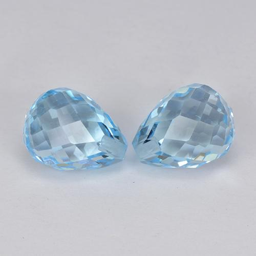 Sky Blue Topaz Gem - 2.6ct Half-Drilled Briolette (ID: 426740)