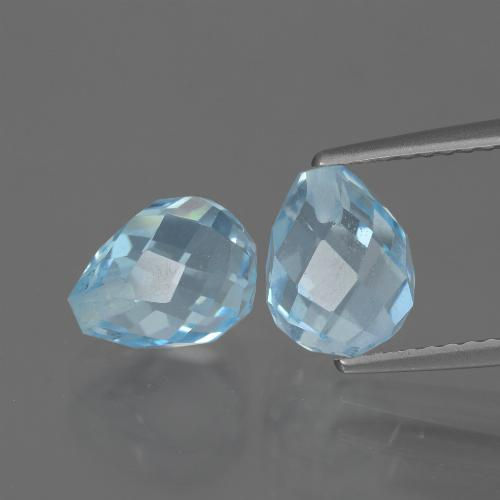 Sky Blue Topaz Gem - 2.7ct Half-Drilled Briolette (ID: 426804)