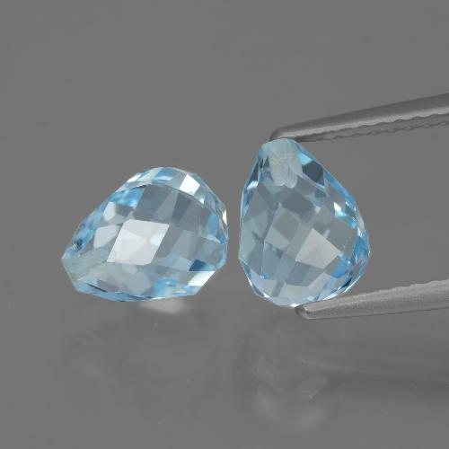 Baby Blue Topaz Gem - 2.6ct Half-Drilled Briolette (ID: 426813)
