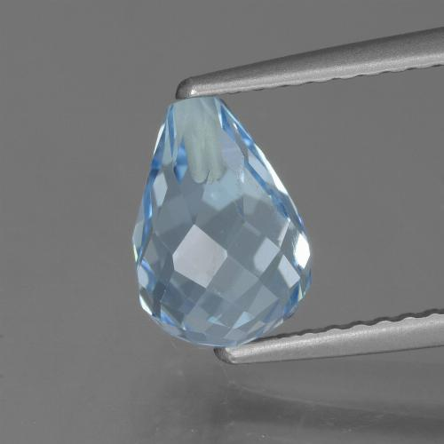 Light Cyan Blue Topaz Gem - 2.5ct Half-Drilled Briolette (ID: 426868)