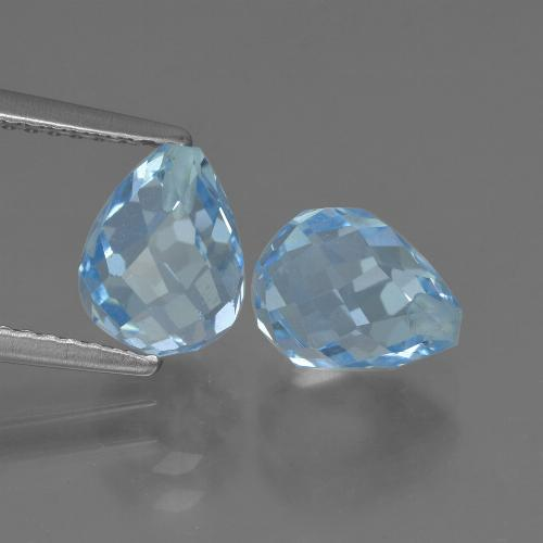 Sky Blue Topaz Gem - 2.4ct Half-Drilled Briolette (ID: 426952)
