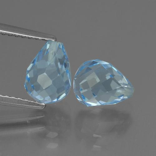 Sky Blue Topaz Gem - 2.3ct Half-Drilled Briolette (ID: 426957)