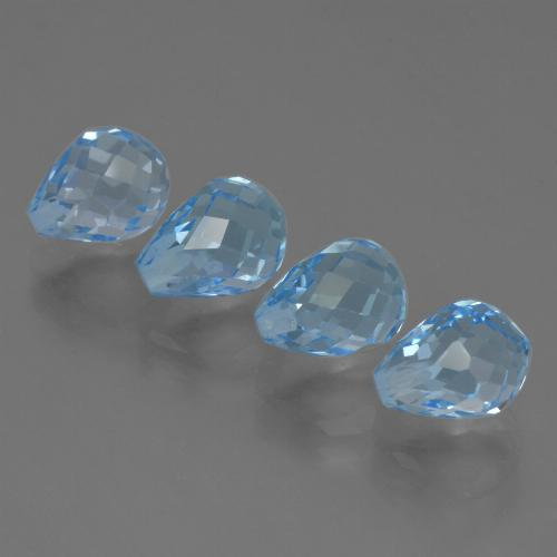 Sky Blue Topaz Gem - 2.4ct Half-Drilled Briolette (ID: 426987)