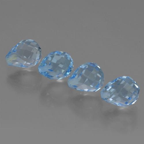 Sky Blue Topaz Gem - 2.5ct Half-Drilled Briolette (ID: 426988)