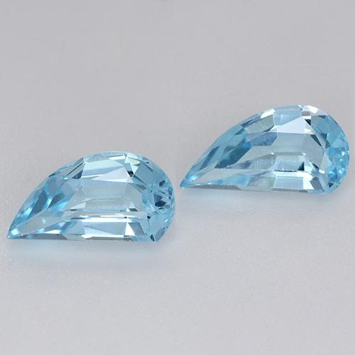 Swiss Blue Topaz Gem - 1.4ct Half Heart Facet (ID: 427948)