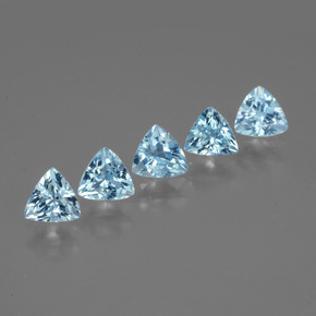 Swiss Blue Topaz Gem - 0.6ct Trillion Facet (ID: 427993)