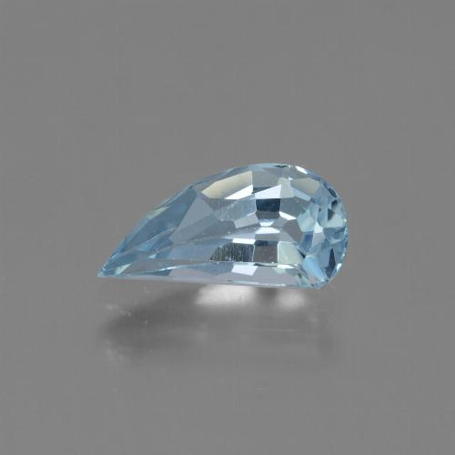 Swiss Blue Topaz Gem - 1.3ct Half Heart Facet (ID: 428567)