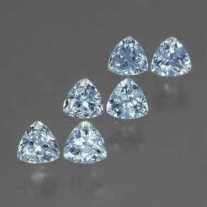 Swiss Blue Topaz Gem - 0.3ct Trillion Facet (ID: 428836)