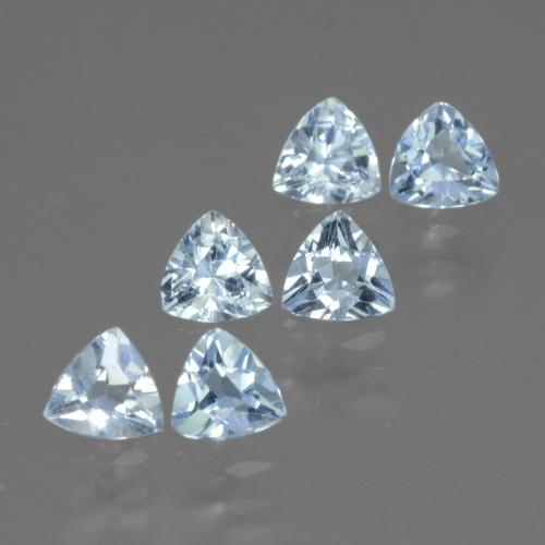 Swiss Blue Topaz Gem - 0.3ct Trillion Facet (ID: 429164)