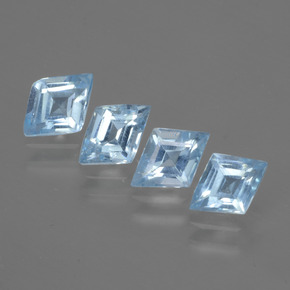Swiss Blue Topaz Gem - 0.6ct Rhomb Facet (ID: 429360)