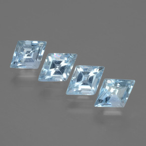 Swiss Blue Topaz Gem - 0.6ct Rhomb Facet (ID: 429364)