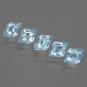 Light Blue Topaz Gem - 0.6ct Rhomb Facet (ID: 429368)
