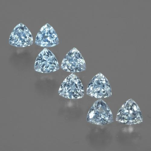 Swiss Blue Topaz Gem - 0.4ct Trillion Facet (ID: 429642)