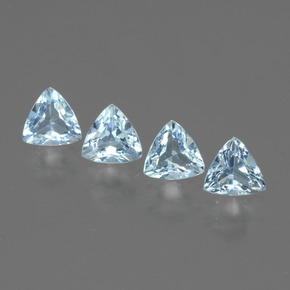 Swiss Blue Topaz Gem - 0.5ct Trillion Facet (ID: 429730)