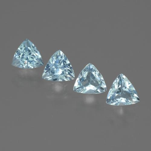 Swiss Blue Topaz Gem - 0.6ct Trillion Facet (ID: 429731)
