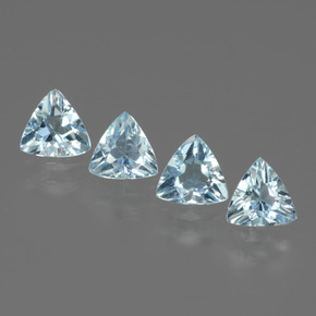 Swiss Blue Topaz Gem - 0.5ct Trillion Facet (ID: 429732)