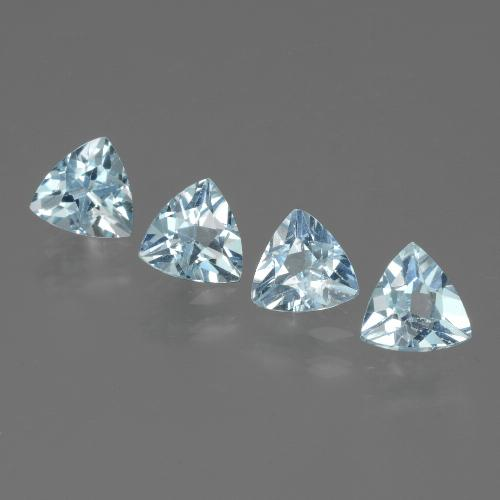 Swiss Blue Topaz Gem - 0.5ct Trillion Facet (ID: 429734)