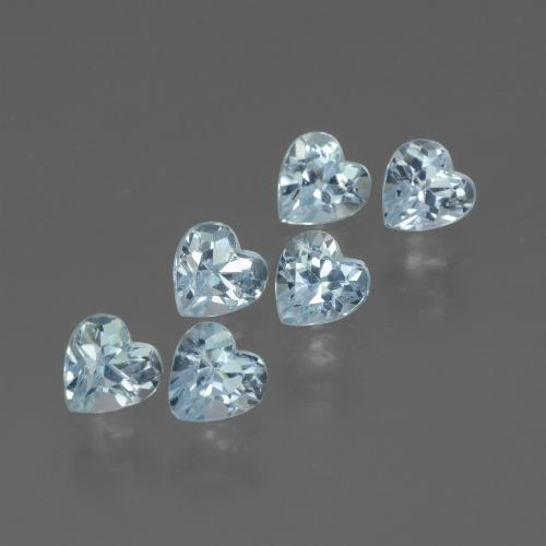 Swiss Blue Topaz Gem - 0.4ct Heart Facet (ID: 430120)