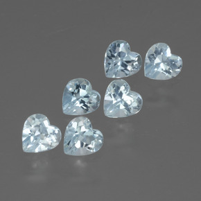 Swiss Blue Topaz Gem - 0.3ct Heart Facet (ID: 430123)