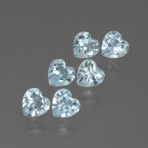 Swiss Blue Topaz Gem - 0.3ct Heart Facet (ID: 430129)