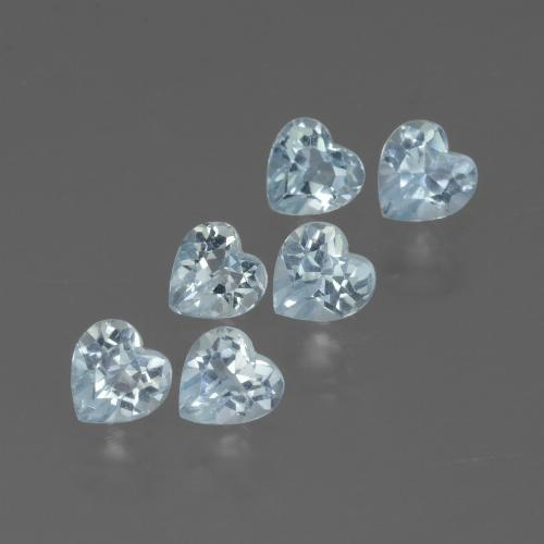 Swiss Blue Topaz Gem - 0.3ct Heart Facet (ID: 430130)