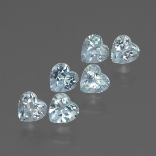 Swiss Blue Topaz Gem - 0.3ct Heart Facet (ID: 430200)