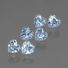 Swiss Blue Topaz Gem - 0.3ct Heart Facet (ID: 430265)