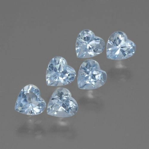 Swiss Blue Topaz Gem - 0.4ct Heart Facet (ID: 430267)