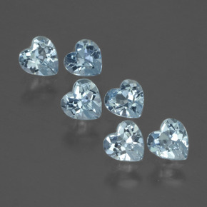 Swiss Blue Topaz Gem - 0.3ct Heart Facet (ID: 430328)