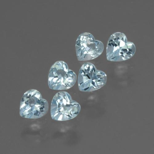 Swiss Blue Topaz Gem - 0.3ct Heart Facet (ID: 430421)